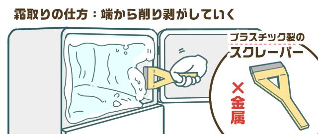 【直冷式:引越し3日前~前日】冷蔵庫の霜取り